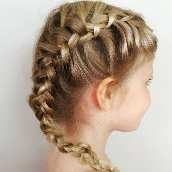 cute side braid for kid
