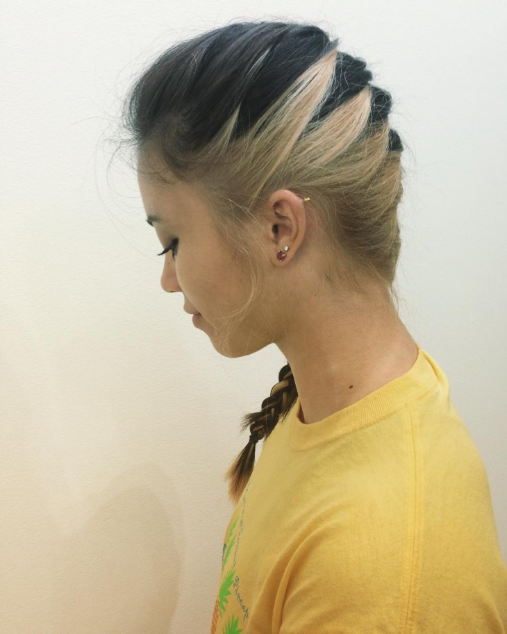 Two Toned Side Braid