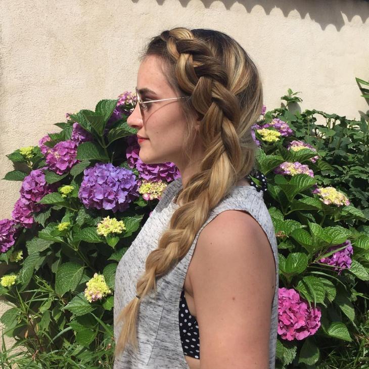 Side Twisted Blonde Hairupdo