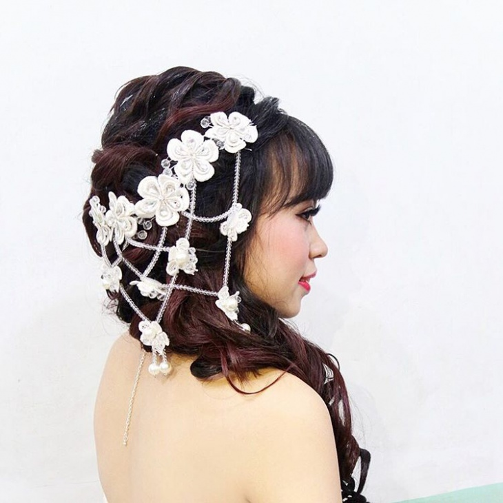 Messy Wedding Braid Updo