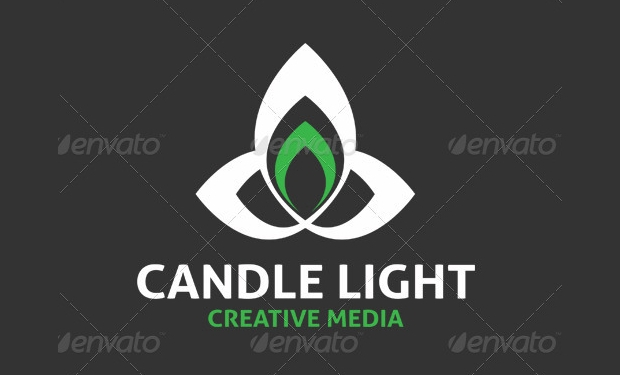 candle light logo for media