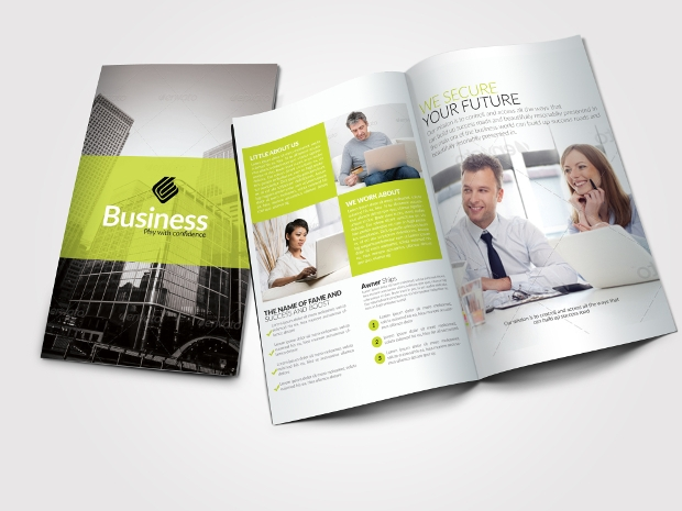 20 advertising brochures free psd ai indesign vector for Bi fold brochure template indesign free
