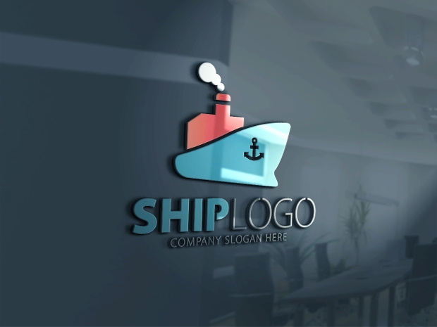ship logo design template