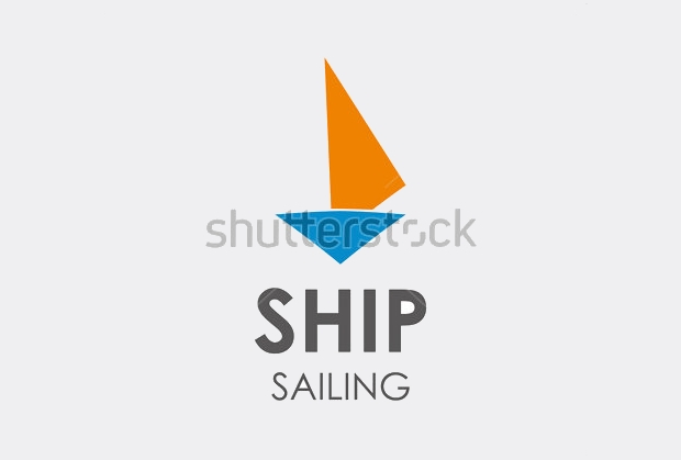 sailing ship logo template