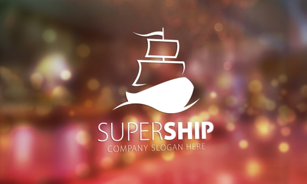 super ship logo design