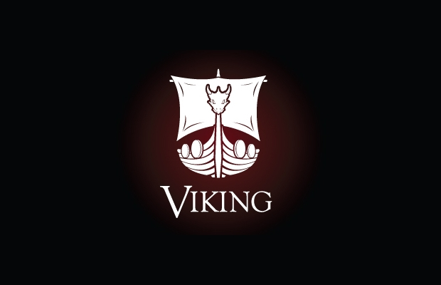 viking ship logo template