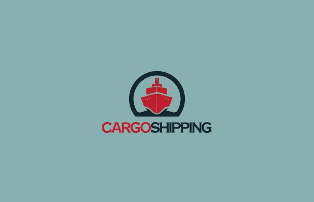 vector cargo ship logo