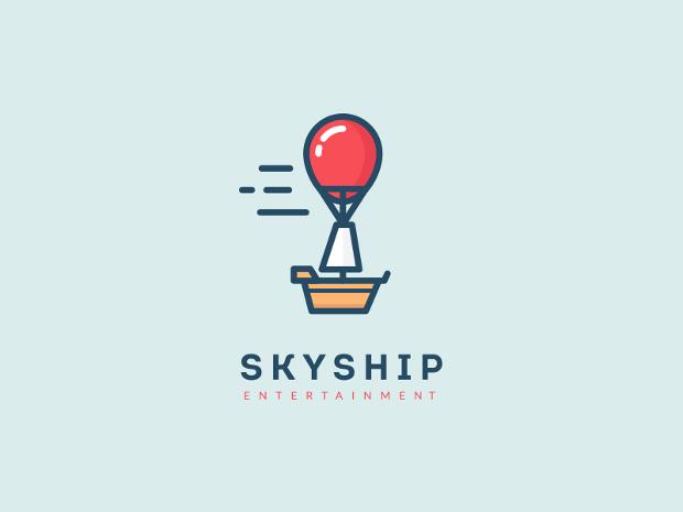 minimal sky ship logo