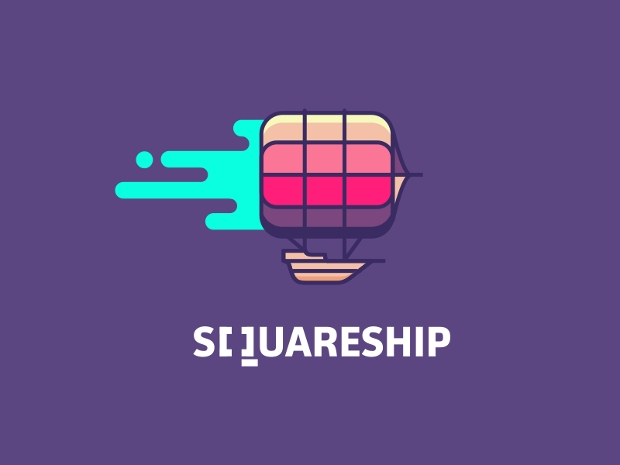 Square Ship Logo Design