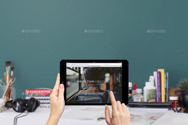 macbook ipad iphone 6 workspace mockups