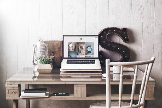 creative flat workspace mockup