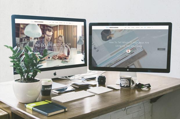 free envato workspace mockup