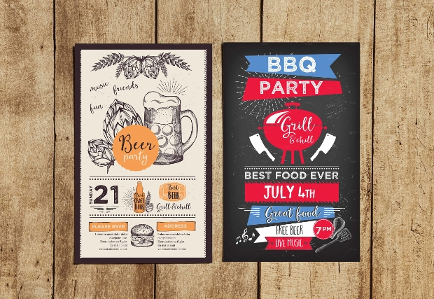 BBQ Restaurant Banner Template