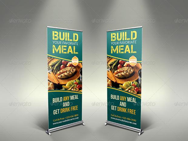 Restaurant Roll-up Signage Banner