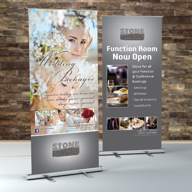Restaurant Pull Up Banners