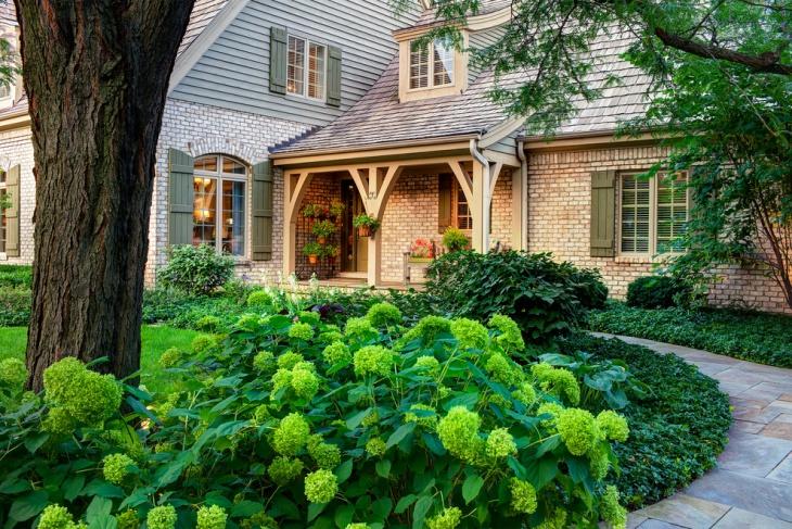 Green Hydrangea Garden
