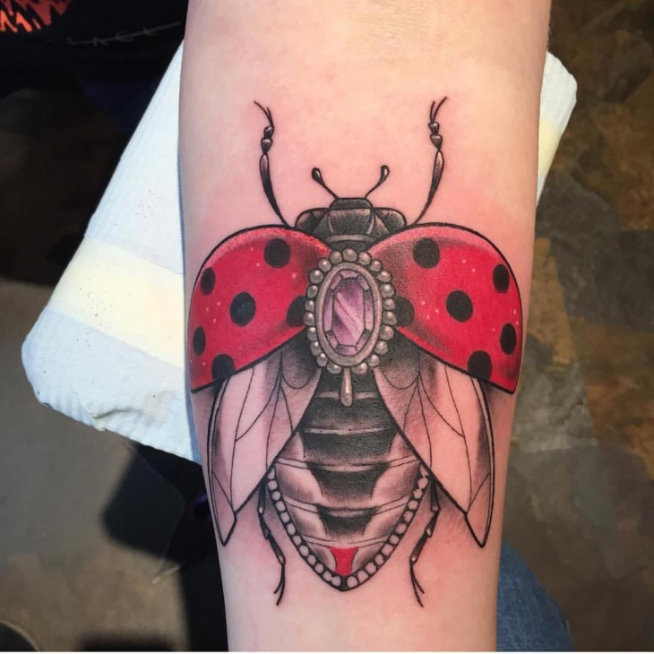 Ladybug Insect Tattoo for Women