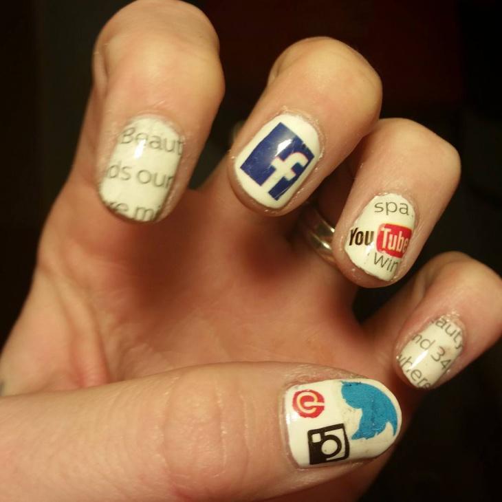 15+ Social Media Nail Art Designs, Ideas | Design Trends - Premium ...