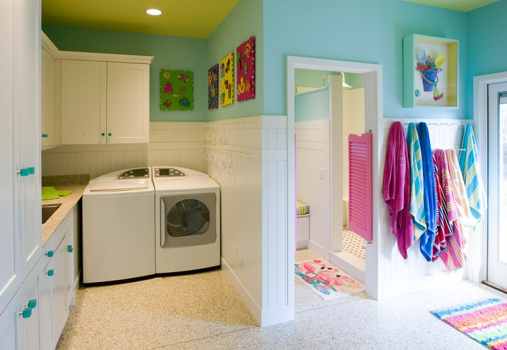 bathroom laundry room design