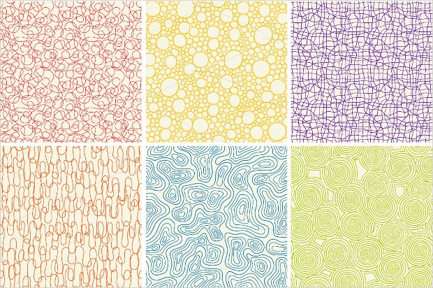 Different Colored Ornamental Patterns