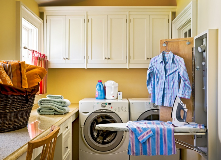 Laundry Room storage with Iron
