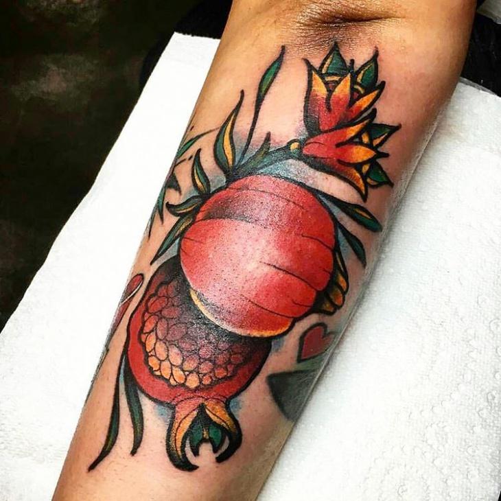 Colorful Fruit Tattoo Design