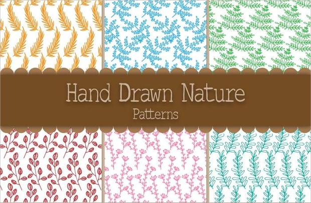 hand drawn nature patterns