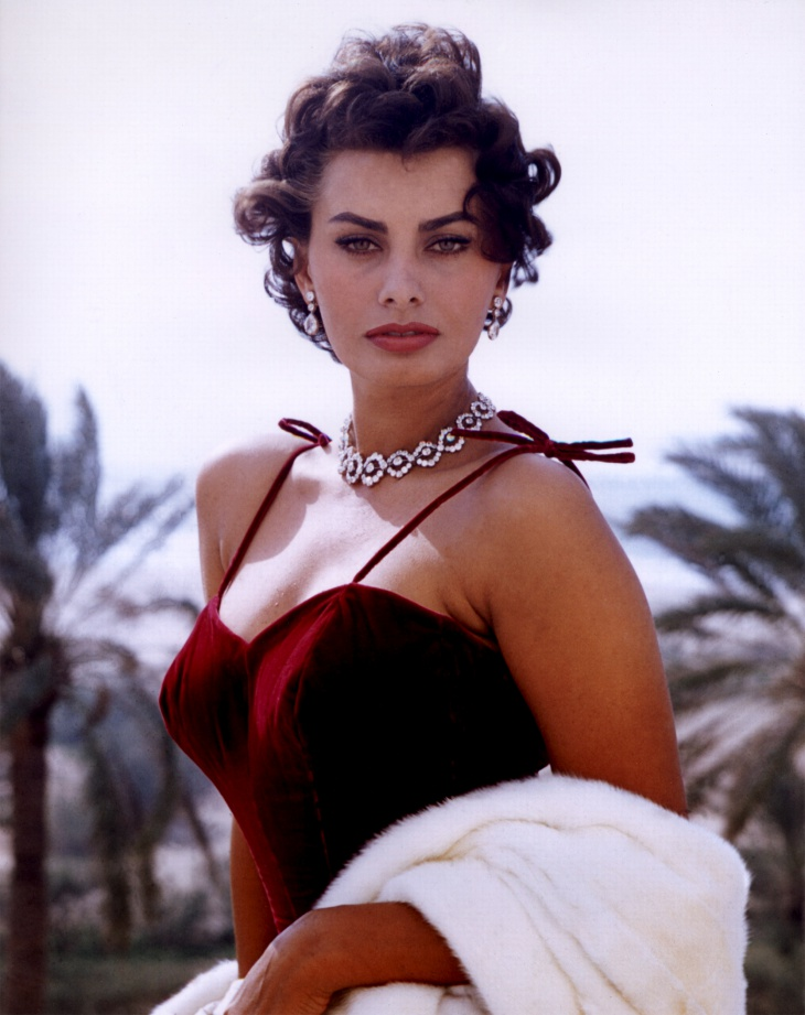 Sophia Loren Red Eye Makeup Design