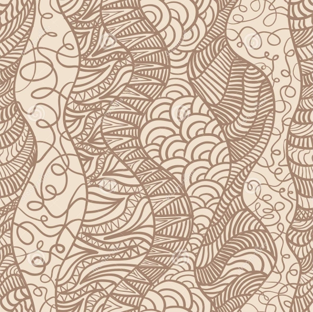 swirl hand drawn pattern