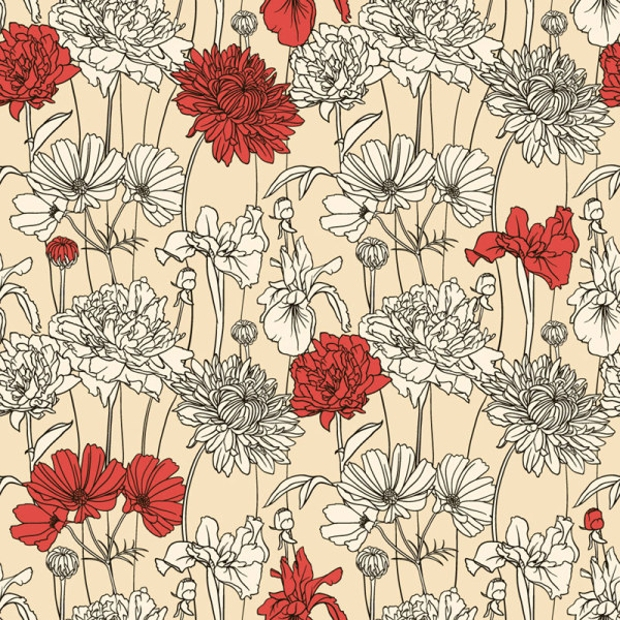 Hand Drawn Floral Pattern