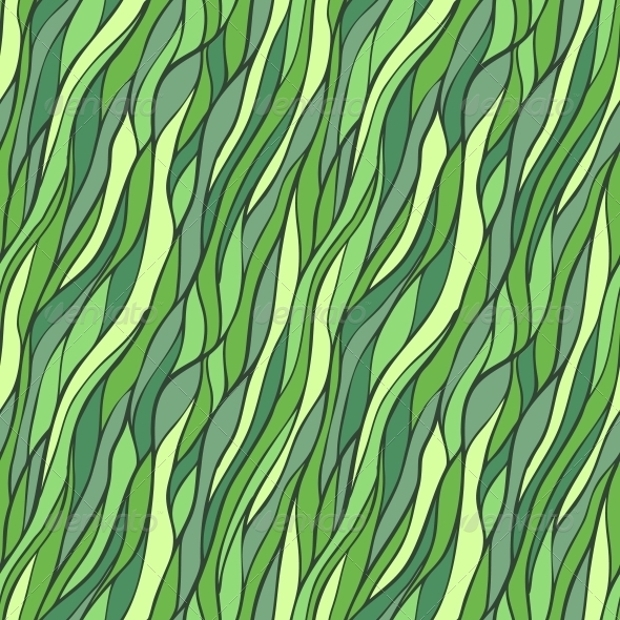 Seamless Hand Drawn Pattern with Abstract Waves