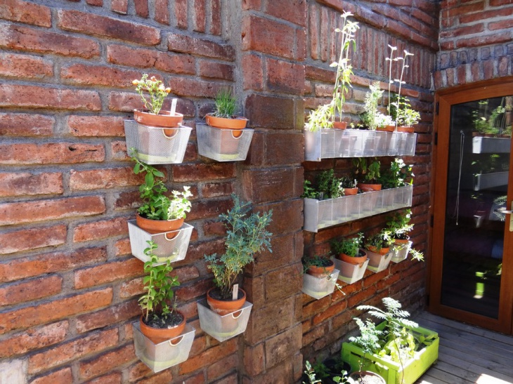Wonderful Wall Mounted Herb Garden