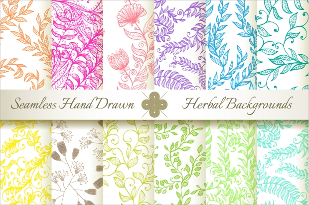 Colorful Hand Drawn Seamless Patterns