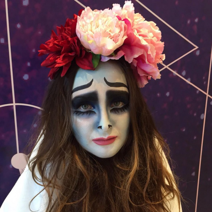 Corpse Bride Makeover With Flowers