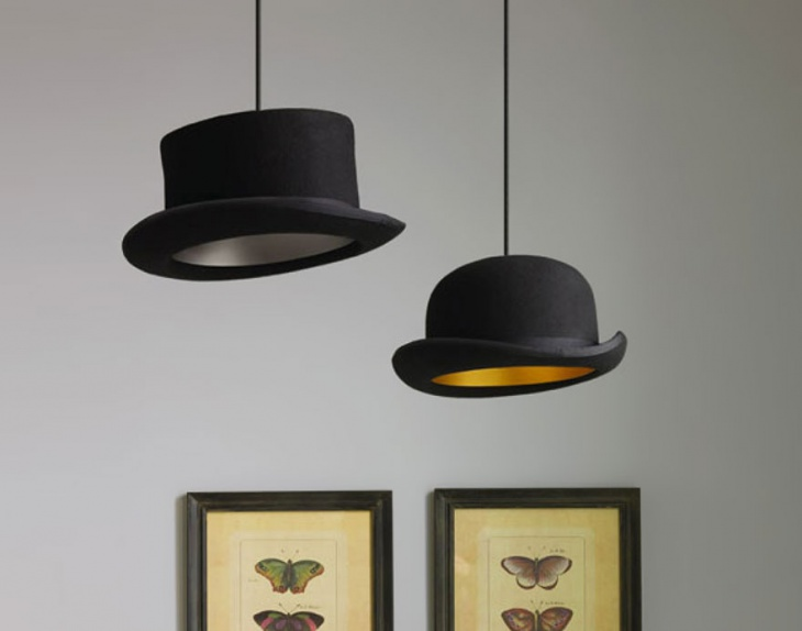 diy hat lamp