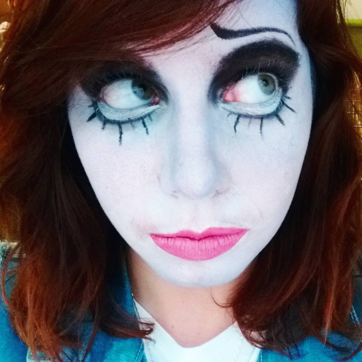 Scary Corpse Bride Makeup Design