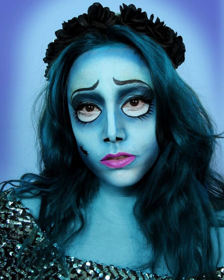 corpse bride face paint makeup