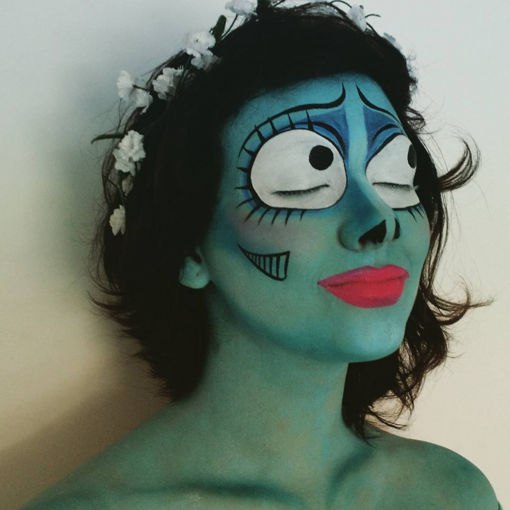 Easy Corpse Bride Makeup