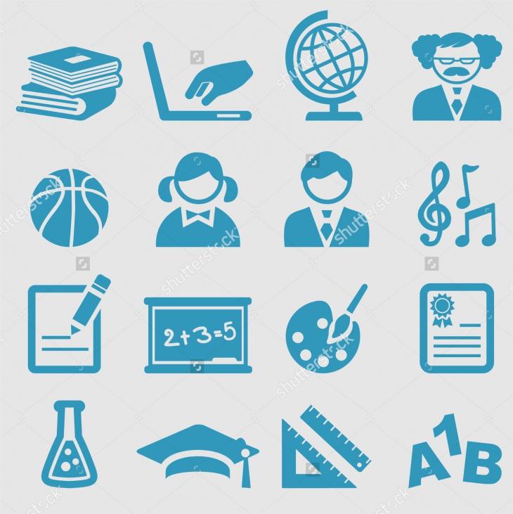 school icons vector set3