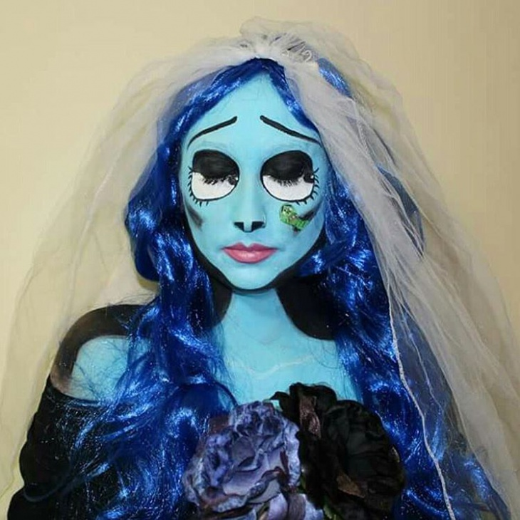 bride halloween makeup idea