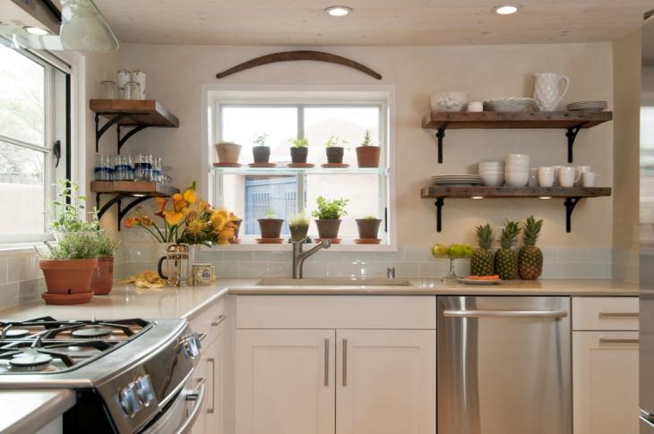 kitchen window herb garden idea