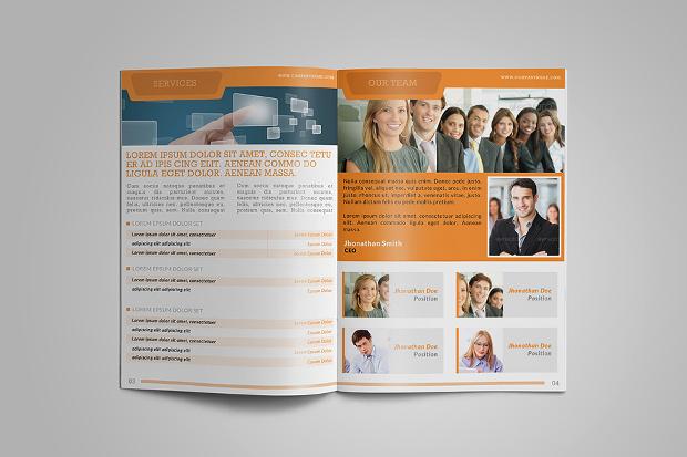 Half Fold Multi purpose Brochure Design