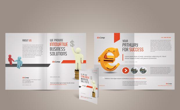 A4 Half Fold Brochure Design
