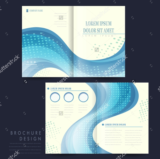 20 half fold brochures psd ai indesign vector eps format