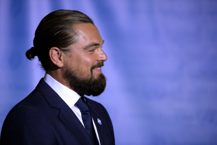 Leonardo DiCaprio Bun Hairstyle