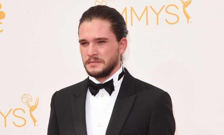 kit harington neat bun hairstyle