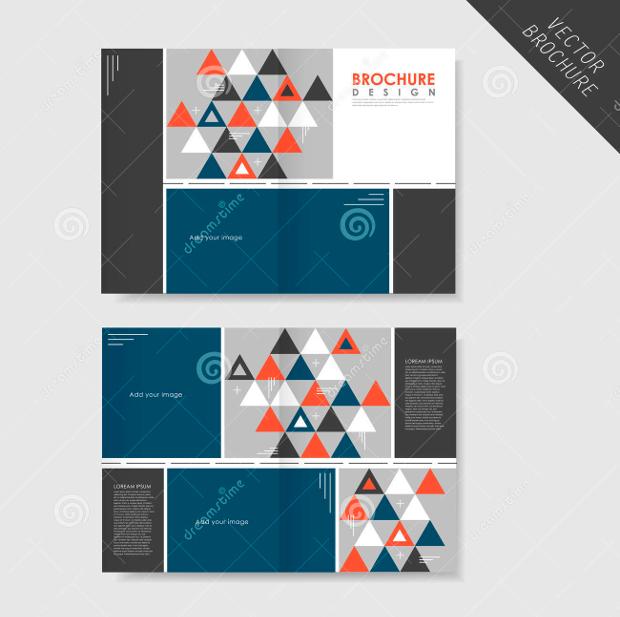 Geometric Half Fold Brochure