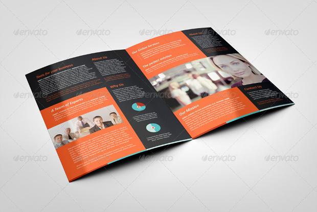 Half Folded Corporate Business Brochure