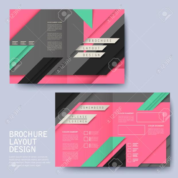Half fold Template Advertising Brochure