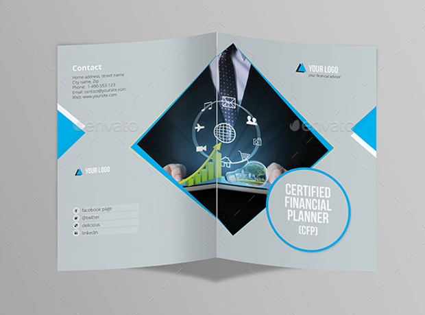 Half Fold Brochure for Financial Advisor